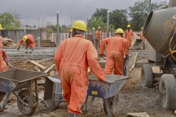 Afrikanische Baustelle