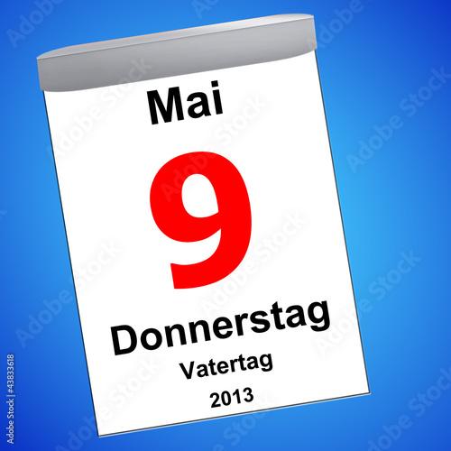 Kalender auf blau - 09.05.2012 - Vatertag