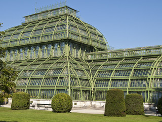 The Palm House in the palace park at Schönbrunn