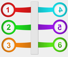 BANNERS WITH NUMBERS AND PLACE FOR OWN TEXT