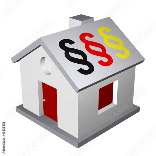 Immobilie Haus Eigenheim 3D