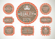 Vintage label Style with eight Design Element