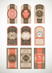 Vintage label Style with nine Design Element