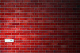 Mail background - postbox in re tiled wall poster