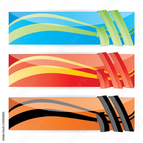Vector color web banner set