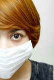 woman wearing protective mask