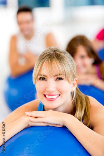 Beautiful Pilates woman