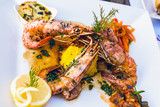 Flamed Prawns Provencal (to pastis or cognac)