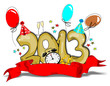 2013, Silvester,  Neujahr Karte