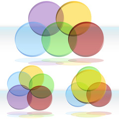 3D Venn Diagram Set
