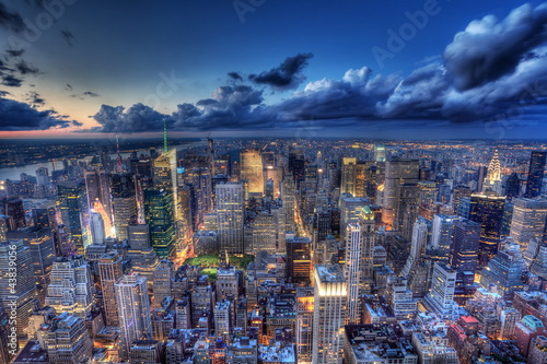 Fototapety, obrazy : New York by night.