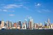 New York skyline over the Hudson River