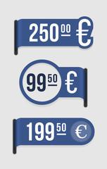 Modern price tag – euro