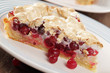 Cranberry pie slice