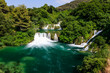 National Park Krka and Cascade of Waterfalls on River Krka, Croa