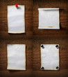 note paper  on wooden wall blank