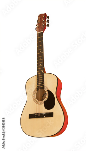 Classical guitar, isolated