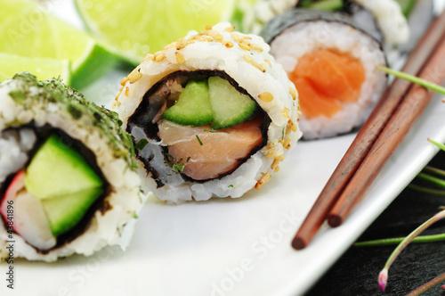Fototapeta ryż - tuńczyka - Inne