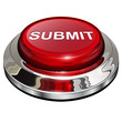 Submit button, 3d red glossy metallic icon