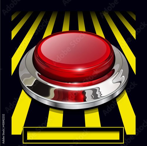 Red alarm chrome shiny button background