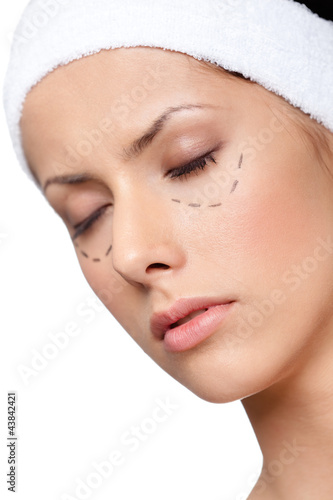 poster of Facelift, plastic surgery, isolated, white background