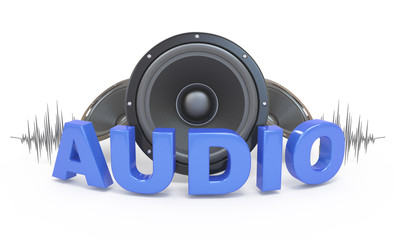 Audio concept icon.