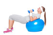 active woman doing exercises