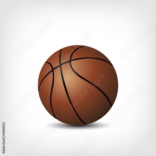 Basketball isoliert