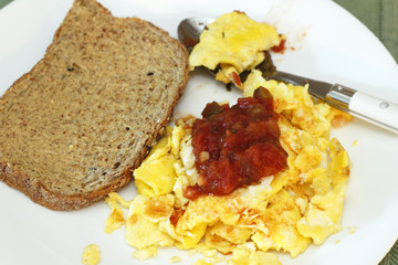 Scrambled Eggs and Salsa
