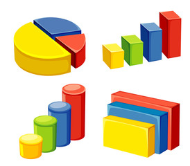 colorful geometric or graphs and charts