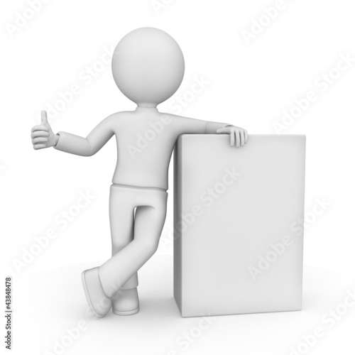 3D Figure with Blank Box