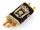 Jewish Torah Scroll with Star of Magen David