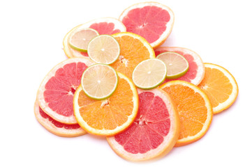 Citrus slices - orange, lime, grapefruit