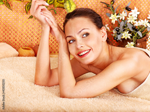 Woman getting  body massage .