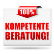 Kompetente Beratung! Button, Icon