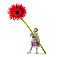 Kind mit Blume - Muttertag