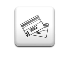 Boton cuadrado blanco tarjeta de credito
