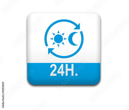 Boton cuadrado blanco 24H