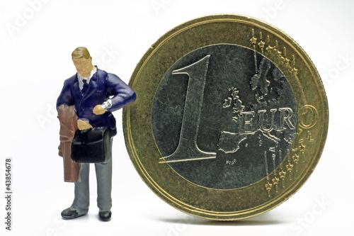 geschäftsmann mit euro