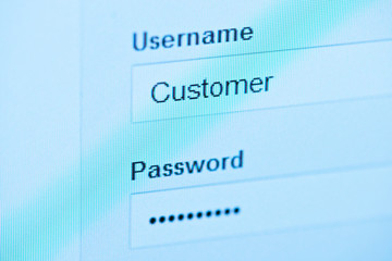 login - customer and password.