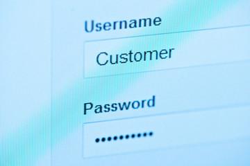 login - customer and password.
