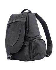 black sling bag isolated on white