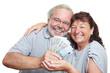 Seniorenpaar mit Geldscheinen