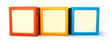 Alphabet building blocks that spelling the word fun