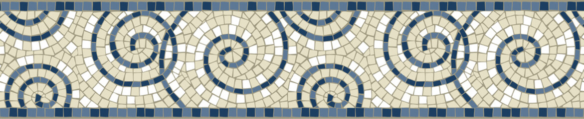 Border repeat mosaic arabesque