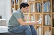 Man reading an electronic book