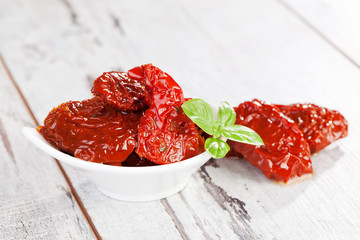 Delicious dried tomatoes.