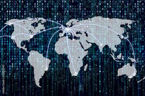 Weltkarte mit Zielmarkierungen