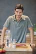 Man preparing food in the kitchen