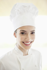 Portrait of a female chef smiling